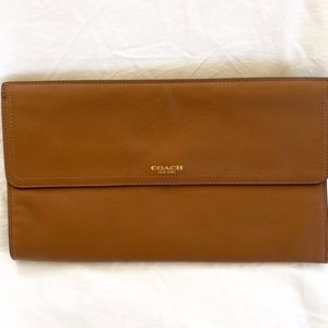 Coach leather clutch bag